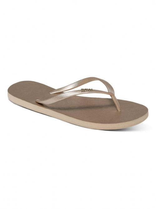 ROXY WOMENS FLIP FLOPS.NEW VIVA IV GOLD RUBBER SURF BEACH THONGS SANDALS 9S 63GL